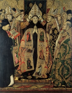 artist rendering of the consecration of St. Augustine - public domain